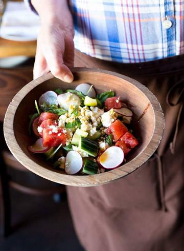 Watermelon Pickle Salad