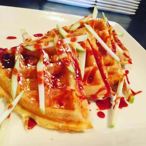 Waffle with Red Molasses